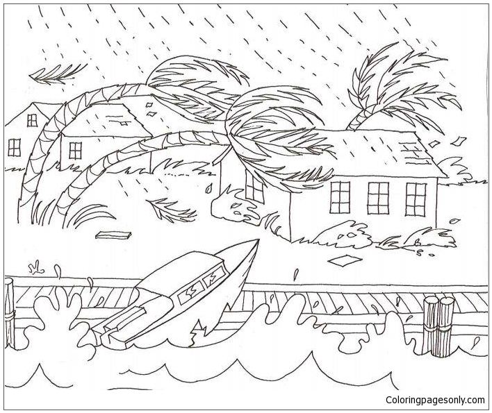 a severe weather coloring page free coloring pages online