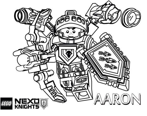 aaron lego nexo knights coloring page ausmalbilder