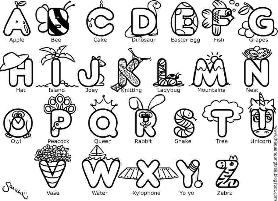 Alphabet Coloring Pages Pictures - Whitesbelfast