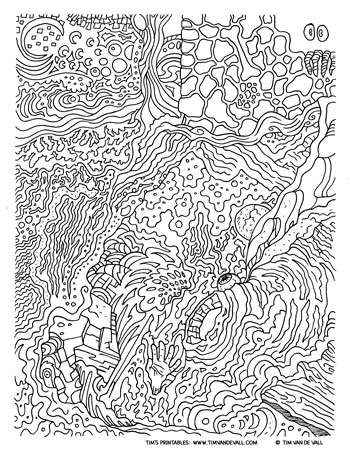 abstract coloring page for adults tims printables