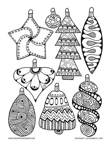 adult coloring pages christmas ornament coloring page