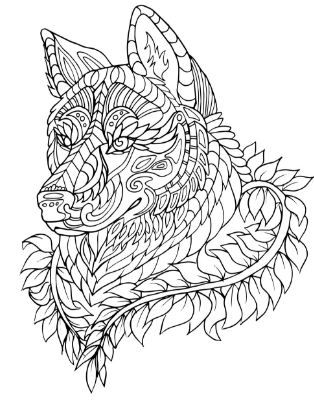 adult coloring pages dog animal patterns horse coloring