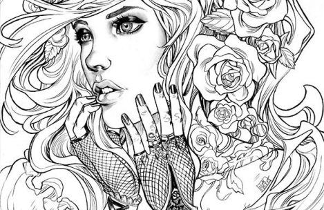 adult coloring pages people coloring pages adult coloring