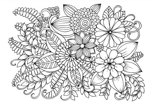 advanced flower coloring pages 11 malvorlagen blumen