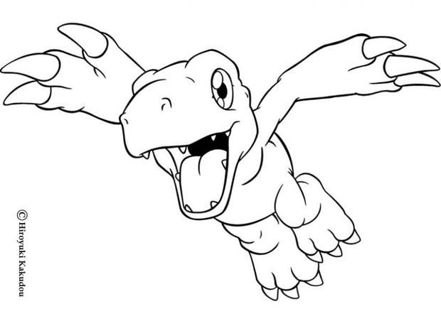 agumon flying coloring page more digimon coloring sheets on