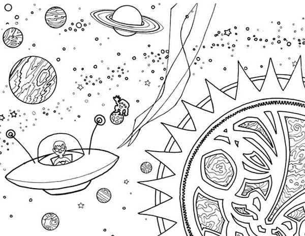 alien 120 characters printable coloring pages