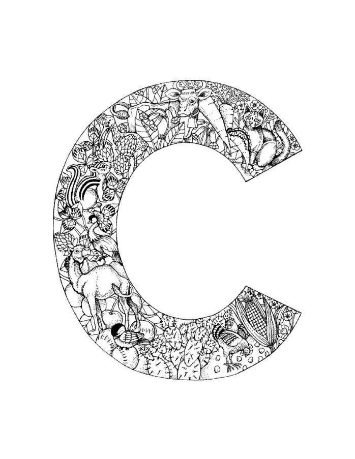 alphabet letter c coloring pages preschool letter c clip