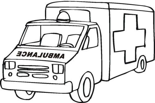 ambulance coloring page cars coloring pages truck