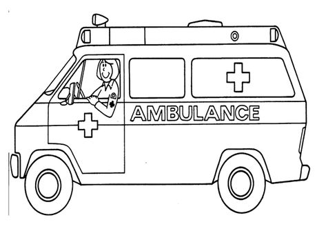 ambulance coloring pages coloring pages for kids