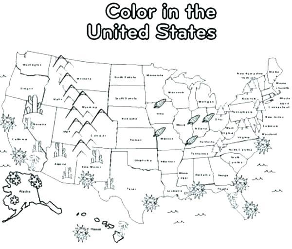 america map coloring page dancekicks