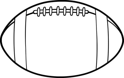 american football ball coloring page free printable