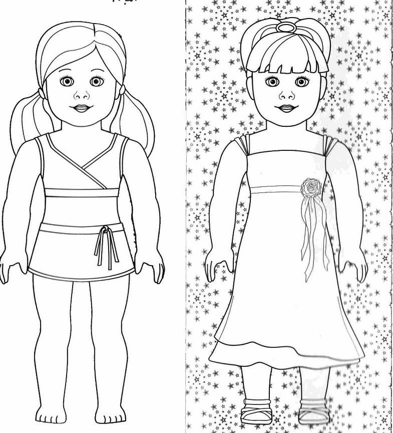 american girl doll coloring page to print timeless miracle