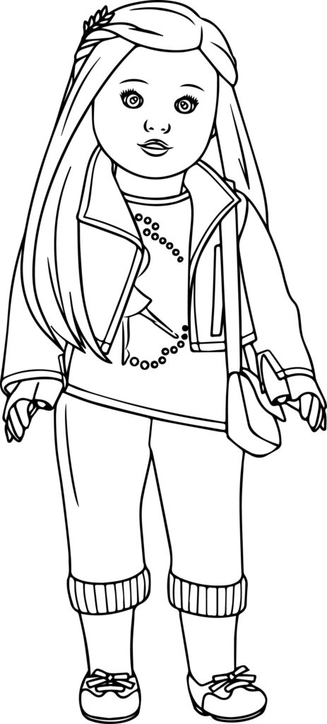 - American Girl Doll Coloring Pages Idea - Whitesbelfast