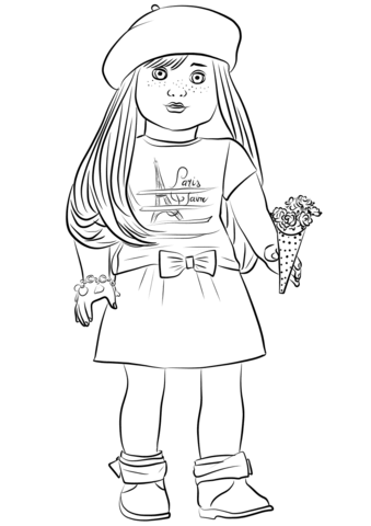 american girl grace thomas coloring page free printable