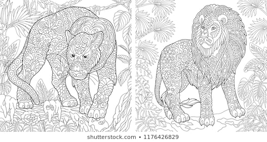 animal adult coloring pages images stock photos vectors