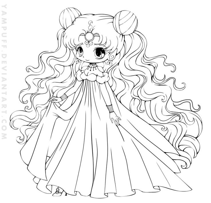 anime kawaii coloring pages
