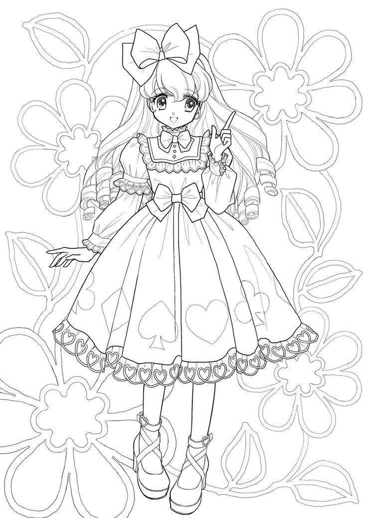 anime manga coloring pages