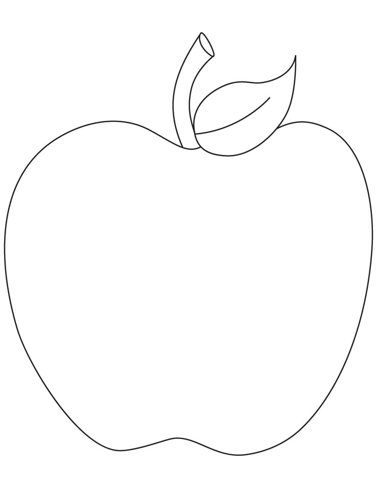 apple pictures to color and print