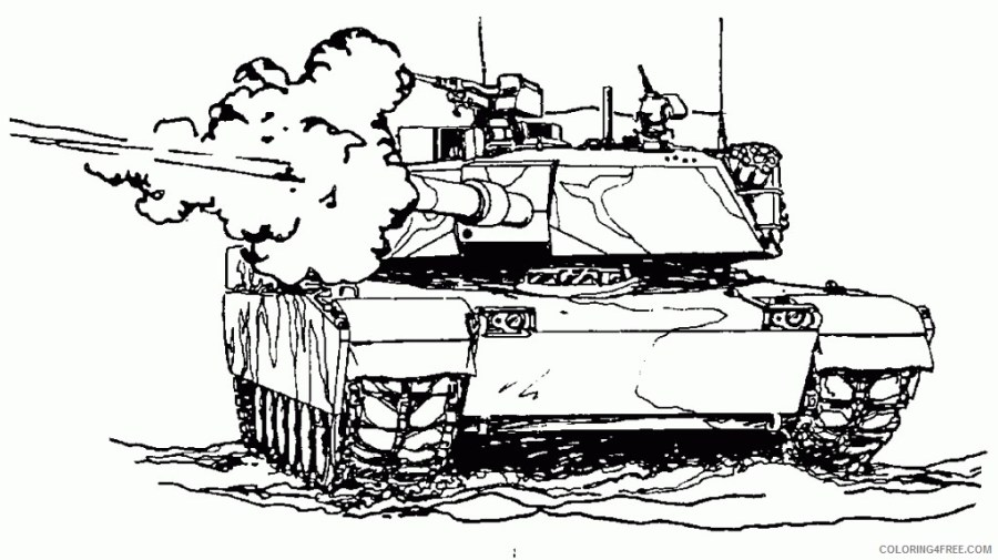 army coloring pages tank shooting coloring4free