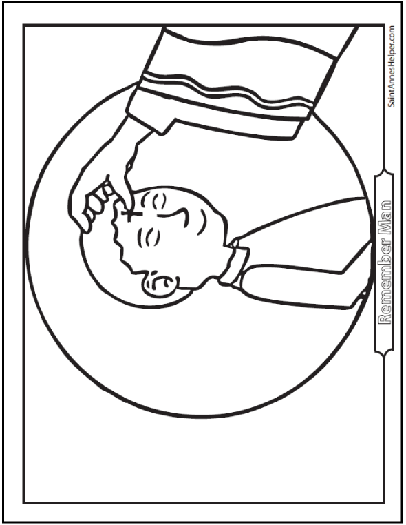 ash wednesday coloring pages start lent well