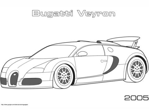 ausmalbild 2005 bugatti veyron ausmalbilder kostenlos zum