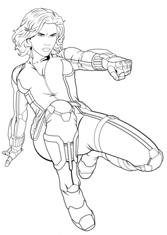 avengers black widow coloring page free printable coloring