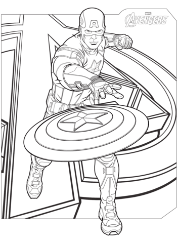 avengers captain america coloring page free printable