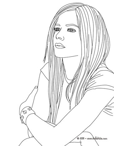 avril lavigne coloring pages coloring pages printable