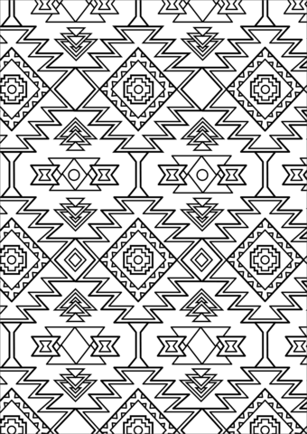 aztec pattern coloring page free printable coloring pages