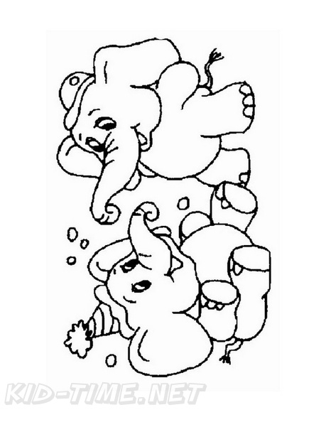 ba elephant coloring book page free coloring book pages