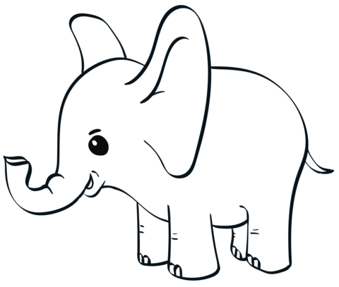 ba elephant coloring page free printable coloring pages