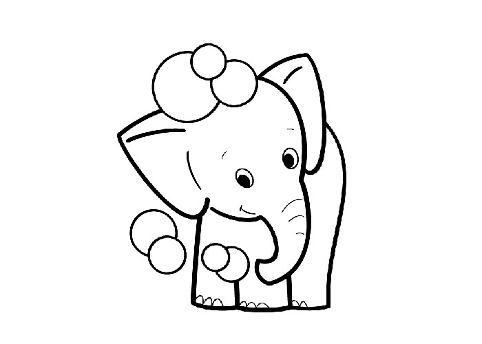 ba elephant coloring pages