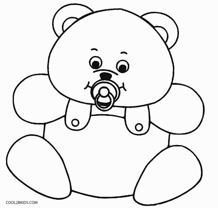 ba teddy bear coloring pages