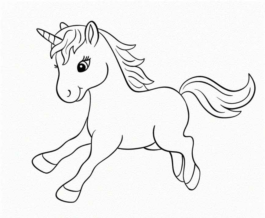 ba unicorn coloring pages printable for kids pictures