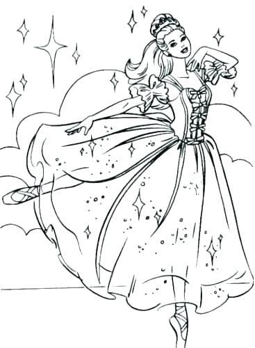 ballerina barbie coloring pages