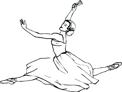 ballerina coloring pages for kids at getdrawings free