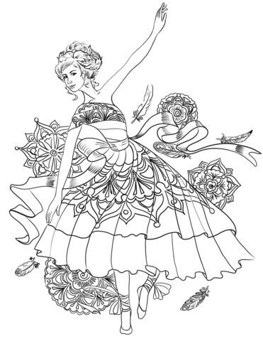 ballerina swan dance coloring page free printable coloring