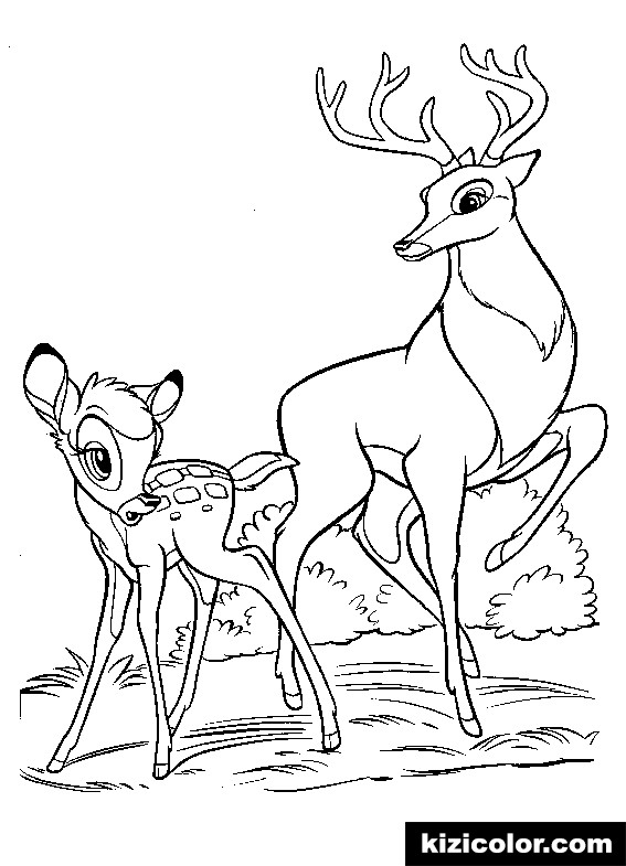 bambi 2 kizi free coloring pages for children