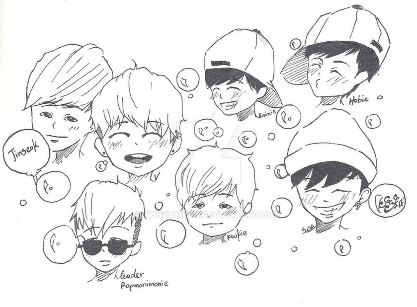bangtan boys coloring pages