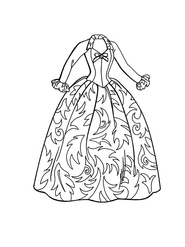barbie fashion doll dress coloring pages coloring sky