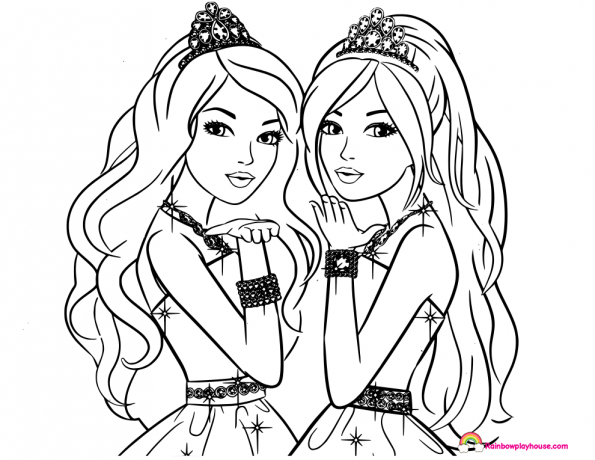 barbie princess coloring pages at getdrawings free for
