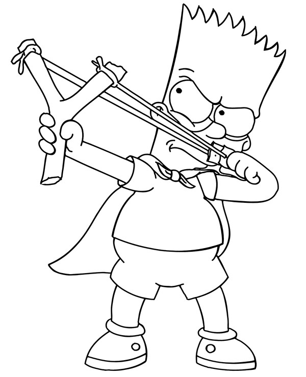 bart simpson funny printable coloring pages for children