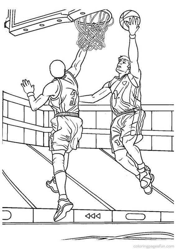 basketball coloring pages 6 sports coloring pages