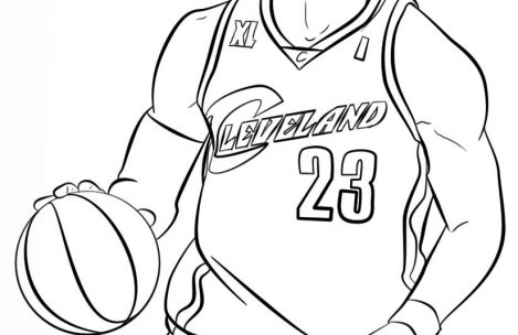 basketball coloring pages lebron james