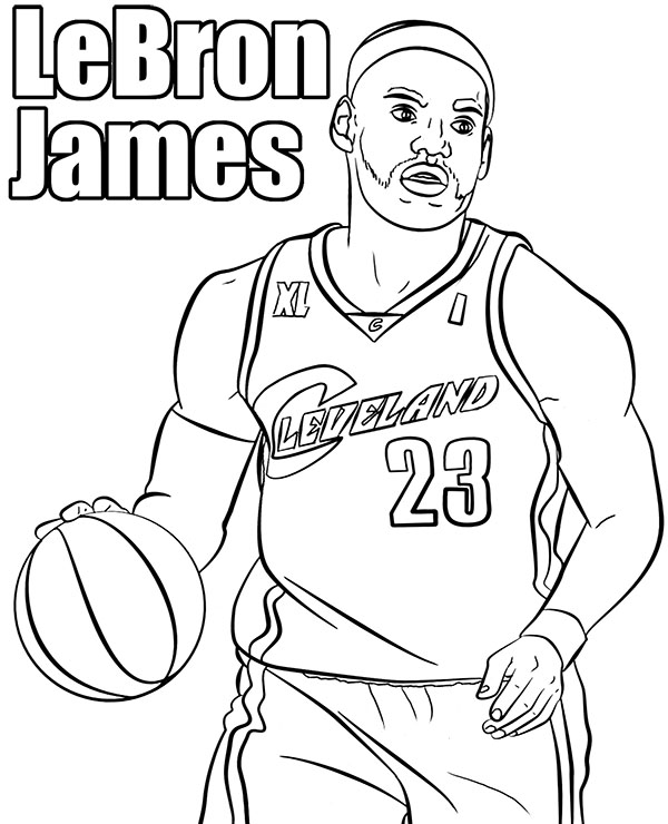 basketball players coloring page le bron james printable picture