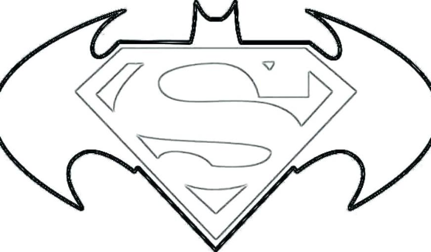 batman vs superman logo coloring pages