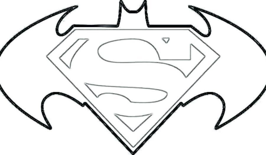 batman vs superman logo coloring pages