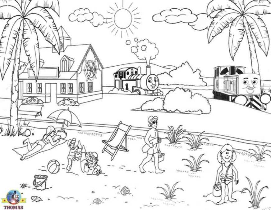 beach 49 nature printable coloring pages