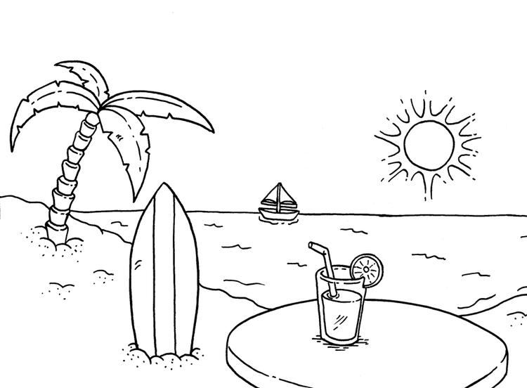 beach coloring pages summer fun for kids