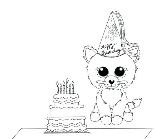 beanie boo coloring pages at getdrawings free for